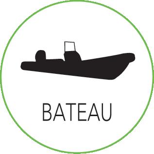 Cours de kite surf avec bateau